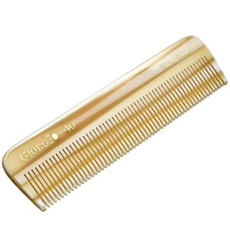 Giorgio G40 4.5 Inch All Fine Tooth Pocket Comb For Styling Medium or Fine Men, Women & Kids Hair. Hand-Made, Saw-Cut and Hand Polished