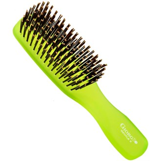 Giorgio GION2G Gentle Neon Hair Brush Detangle Soft Scalp Sensitive