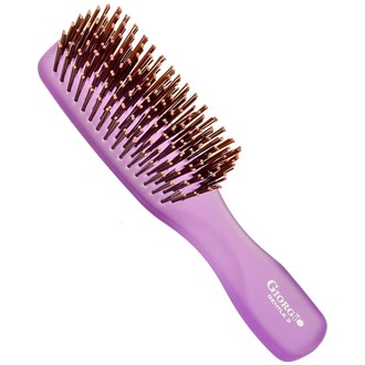 Giorgio GION2PP Gentle Neon Hair Brush Detangle Soft Scalp Sensitive