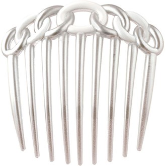 Camila Paris CP1154 Silver French Hair Side Comb for Women