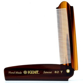 Kent 82T 4 Inch Handmade All Fine Folding Pocket Comb for Men. Sawcut