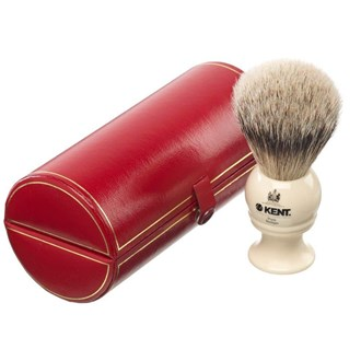 Kent BK2 Shaving Brush Mid Size Pure Silver Grey Badger Bristles