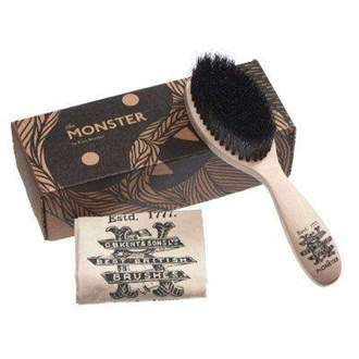 Kent BRD5 Men's Beard and Mustache Brush, Cotton Bag and a Gift Box.