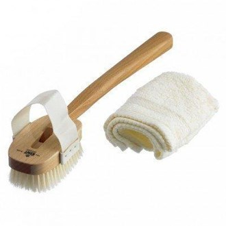 Kent FD3 Body Scrubbing Exfoliating Bath Shower Brush. Boar Bristles