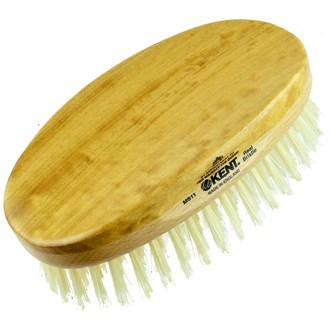 Kent MS11 Oval Men Military. Pure White Bristle Gentleman's Hair Brush