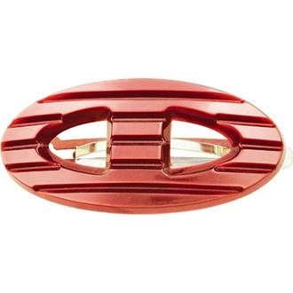 Camila Paris CP1918 Handmade Red French Hair Barrette Oval Automatic