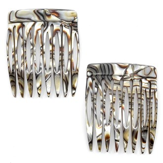 Camila Paris CP2332-2 Small Handmade Onyx French Hair Side Comb