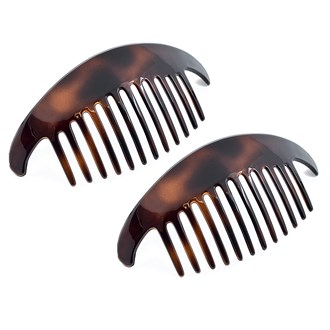 Camila Paris CP2430-2 Tortoise Shell French Hair Side Comb Interlocking