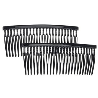 Camila Paris CP837-2 Classic French Hair Side Comb for Women Black