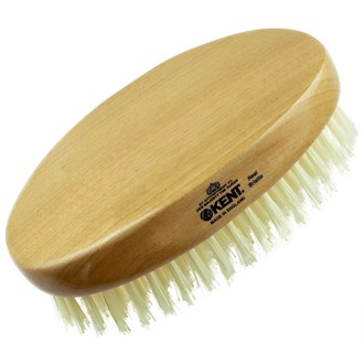 Kent BB Men's Club Beard Mustache Brush Natural Military Boar Bristle