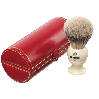 Kent BK4 Shaving Brush. Travel Small Size Silver Tip Badger Bristles