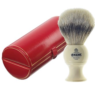 Kent BK8 Shaving Brush. Large Size Pure Silver Tip Badger Bristles