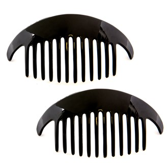 Camila Paris CP2872-2 Black Hair Side Comb Interlocking